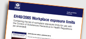 EH40 2005 - Workplace Exposure Limits (WEL)